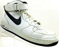 NIKE AIR FORCE 1 High Top Sneakers 315123-114 White & Black Mens Sz 10.5 / 44.5