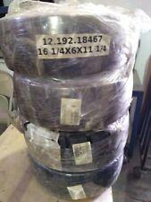 Llantas negras para montacargas 161 /4x6x111 / 4 Magnum Solideal traccion(4 )