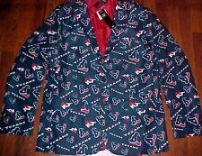 Houston Texans NFL AFC Team Apparel Men Blue Motif Logo Sport Jacket M (44) New