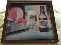 Vintage CARTA BLANCA BEER CERVEZA Holographic Sign Bar Pub Man Cave