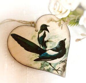 Magpie Birds Hanging Decoration, Vintage Birds Decoration
