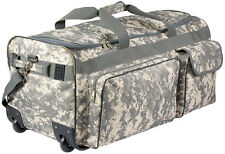 ACU Digital Camo Carry Luggage Military Duffle Wheeled Bag Universal Digi Army