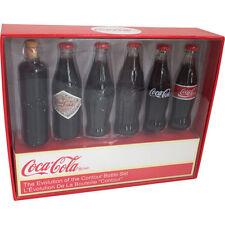 Coca Cola - 6 Piece Evolution Of The Contour Bottle MINI Set - New & Official