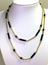 Kate Spade Bar None Necklace NWT Glistening Black Modern Sophisticate Links