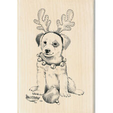 INKADINKADO RUBBER STAMPS CHRISTMAS DOG WITH ANTLERS STAMP