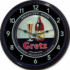 WM Gretz Brewing Co Philadelphia PA  Beer Tray Wall Clock Ale Brew Man Cave 10""