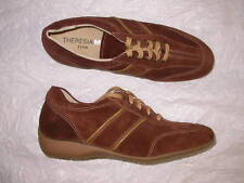 Theresia M. Gwen Brown Suede Laced Shoe 6.5 M