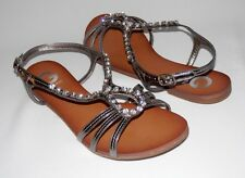New G by Guess Ulexa Ladies Flats Sandals Metallic Medium Embellished Brown  9.5