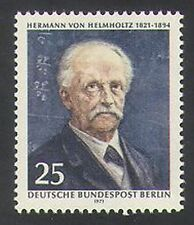 Germany 1971 Helmholtz/Science/Vision/Colour/Energy/People/Scientists 1v n35409