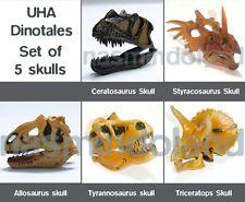 Kaiyodo UHA dinotales 4 Ceratosaurus & Triceratops 5 dinosaur skull figure lot