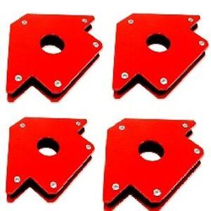 "(4) New 5"" 75lb Strength Strong Welding Magnetic Arrow Holder Magnets Magnet"