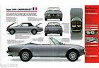 PEUGEOT 504 CABRIOLET Convertible IMP Brochure: 1979,1980,1981,.....
