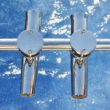 "2PCS 1-3/4'' Stainless Steel Clamp On Fishing Rod Holder 1-1/4"" to 2"" Awesome"