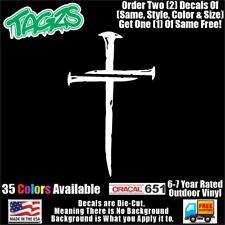 Nail Christian Cross Jesus Diecut Vinyl Window Decal Sticker Car Truck Suv Jdm