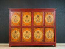 Antik Altar Highboard Kommode Rot Orange Asiatika Möbel - hh05m7