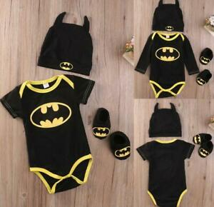 Newborn Infant Baby Boy Batman Romper Costume Jumpsuit Outfit Clothes 0-24Months