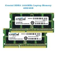 Crucial 8GB 8G 204-pin SODIMM DDR3 PC3-12800 Memory Module N1M7