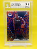 ZION WILLIAMSON 2019-20 Mosaic Reactive Blue RC, Pelicans — BGS 9.5, Gem Mint!