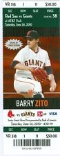 2010 Giants vs Red Sox Ticket: Mike Cameron & Darnell McDonald HRs