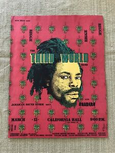 Original Concert Handbill The Third World Band Reggae 1976
