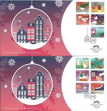 Nederland - FDC 743 a+b Decemberzegels