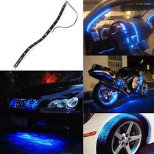 5PCS 15 LED DC 12V 30cm Car Motor Vehicle Flexible Waterproof Strip Light Blue