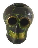 Skull Head Handmade Brass Ashtray Ash Tray Paperweight Halloween Table Decor s86