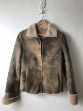 Cristiano Di Thiene Italian Leather Shearling Coat Size 42 / Small Womens Jacket