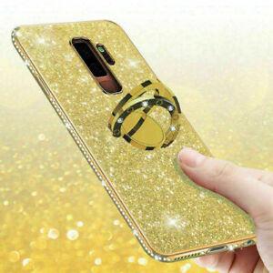 Huawei P40 P30 Mate 20 Pro Lite Bling Diamond Ring Holder Soft Cover Case