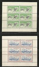 New Zealand 1957 Health/Sports semipostal ss--Attractive Topical (B52a-53a) MH