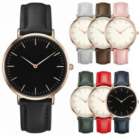 Casual Mens Women Fashion Quartz Analog Watches Gold Stainless Steel Wrist Watch