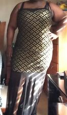 Black and Gold Plus Size Mermaid Dress NWOT 2X