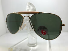 New Ray Ban Sunglasses RB 3030 L0216 rayban gold outdorsman cable polarized