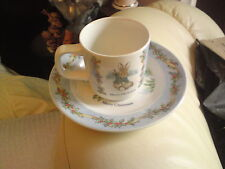 Wedgwood ~ Beatrix Potter ~ Peter Rabbit Cup and Plate ~ 'Merry Christmas 1996'
