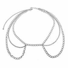 Women Sexy Waist Chain Tassel Belt Multilayer Metal Body Bikini Gold Beach Retro