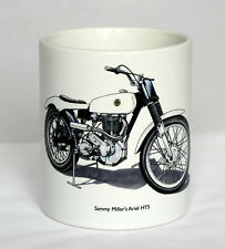 Motorbike Mug. Sammy Miller's Ariel HT5 trials bike GOV 132 illustration.