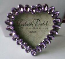 Photoframe Lilac Gem Heart 8cm