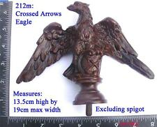 """212m Grande """"crosed flechas"""" Junghans Eagle Para Regulador De Viena caja del reloj/hágalo usted mismo"""