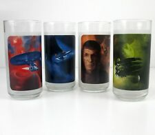 Star Trek - Glasses - Spock ~ Kirk ~ Nero - Uhura - Set Of 4