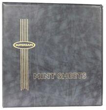 Mint Sheet Stamps Album Supersafe Black Binder Free 50 Black Pages Us Shipping