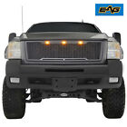Eag Fit For 07-10 Chevy Silverado 3500 Heavy Duty Grille Packaged Led Upper