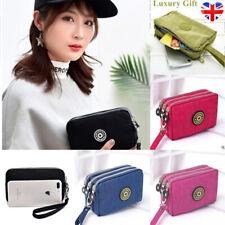 Women Wallet Purse Canvas Ladies Small Clutch Bags 3 Layer Zipper Soft Durable