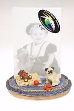 PUG  WITH  TEDDY BEAR ~ PICTURE FRAME