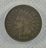1866 INDIAN HEAD CENT ANACS Certified VF-25 Details