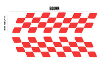 "Large 24""x6""  CHEQUERED SIDE STRIPE X2 Car/Van/caravan/ boat Sticker decal 600mm"