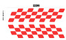 "CHEQUERED SIDE STRIPE X2 Car/Van/caravan/ boat Sticker decal 600mm Large 24""x6"""