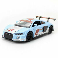 Audi R8 LMS 2015 Racing Car 1:32 Model Car Diecast Toy Vehicle Pull Back Blue