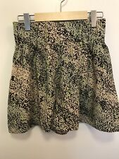 BCBG Generation Women's Small Shorts High Waisted Black Lime Green