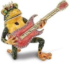 Bejeweled Frosch mit Gitarre Schmuckkästchen