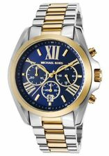 Michael Kors Bradshaw Gold Silver Navy Chrono Stainless Steel MK5976 Women Watch